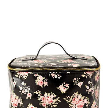 Floral Travel Makeup Case