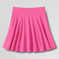 Girls' Solid Knit Twirl Skort from Lands' End