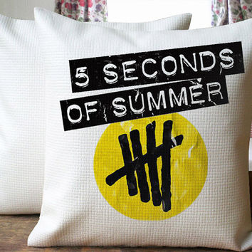5SOS Yelow Logo Beautiful Design Cover for  Pillow Cover 18 x 18 inches