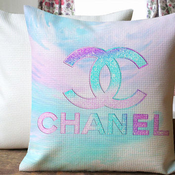 Chanel Pastel Inspired Beautiful Design Cover for  Pillow Cover 18 x 18 inches