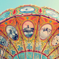 Carnival Photo Swings Spinning Rainbow 85x11inch by SSCphotography