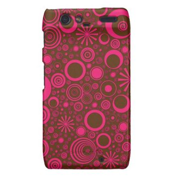 Rounds, Pink-Brown Motorola Droid Razr Case