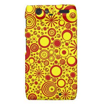Rounds, Red-Yellow Motorola Droid Razr Case