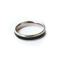 Rose Gold and Black Stacking Ring