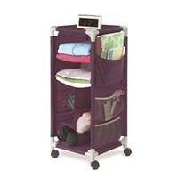 The Dorm Swivel Storage Cart - Eggplant Products For College Students Cool Stuff For Dorms
