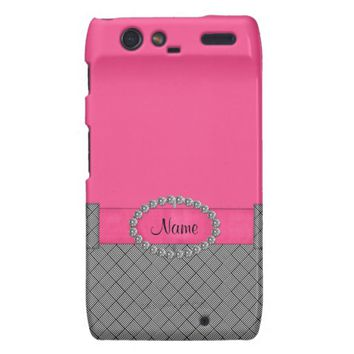 Chic Pink Dress Motorola Droid Razr Case