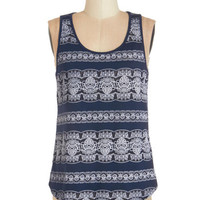 ModCloth Tank top (2 thick straps) Lacy Evenings Top