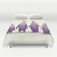 Penguins Duvet Cover by Timothy J. Reynolds
