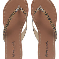 Essential Faux Patent Leather Flip-Flop | Wet Seal