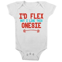 I'd Flex, But I Like This Onesuit - Available in Black or White