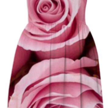 Pink Roses Summer Dress created by ErikaKaisersot | Print All Over Me