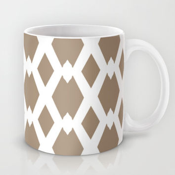 Daffy Lattice Cafe Latte Mug by Lisa Argyropoulos | Society6