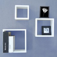 Organize It All Wall Wood Cube Organizer