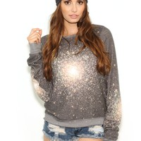 Wildfox Out There Beach Baggy Jumper in Multi Colored