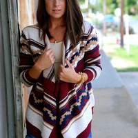 Harbor Walk Cardi {Burgundy}