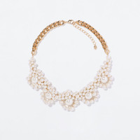 PEARL APPLIQUE NECKLACE