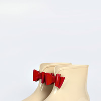 Ivy Low Ankle Bow Trim Welly