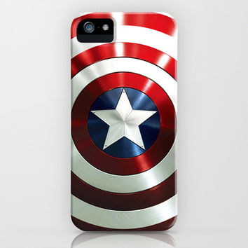 Captain Steve Rogers Shields  iPhone & iPod Case by neutrone