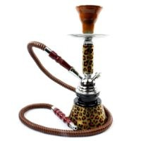 "NeverXhale Premium Series: 11"" 1 Hose Hookah Complete Set - Cheetah Leopard Tiger Animal Skin Art - Choose Your Beast (Golden Brown Cheetah)"
