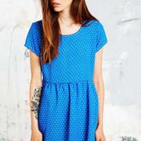 Urban Renewal Vintage Remnants Babydoll Dress in Blue - Urban Outfitters