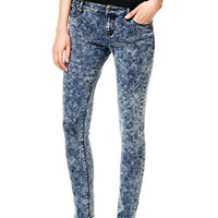 Olivia Low-Rise Jeggings in Dark Acid - Acid Wash