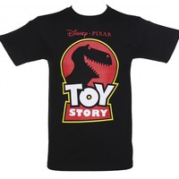 Men's Black Disney Pixar Toy Story Rex T-Shirt : TruffleShuffle.com