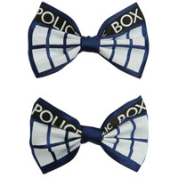 Doctor Who TARDIS Hair Bow 2 Pack