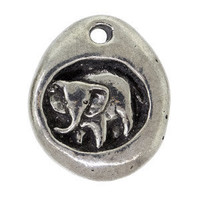 Happy Memories Elephant Pendant Leather by Jennasjewelrydesign