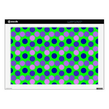 Seeing Dots Purple Green LAPTOP SKIN