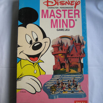 Vintage Disney Mastermind Game Mickey Minnie Daisy Donald Goofy Magic Mushrooms Board Game 1979 Complete