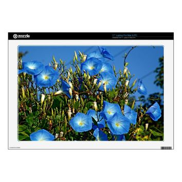 Heavenly Blue Morning Glory Flowers Skins