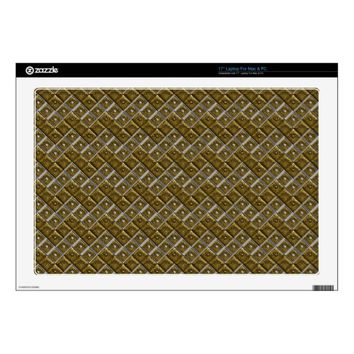 Silver-Gold Chevron Dots Laptop Skins