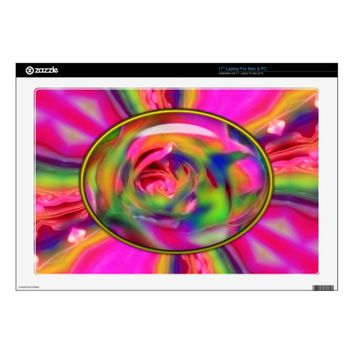 Candied Rose Petals Vinyl Laptop Skin