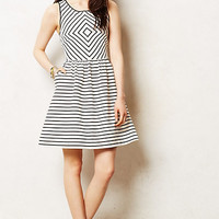 Mitred Stripe Dress