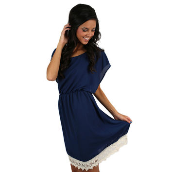 Southern Sunsets Dress in Navy