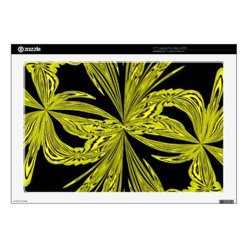 Abstract Botanical Yellow Laptop Skin