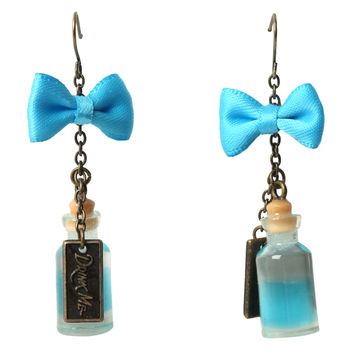 Disney Alice In Wonderland Drink Me Bottle Earrings
