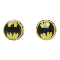 DC Comics Batman Button Earrings
