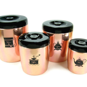 Best tea and coffee canisters products on wanelo - Pink tea and coffee canisters ...