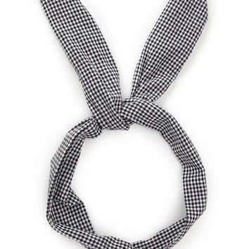 Checkered Wire Headwrap