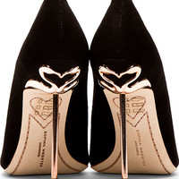 Black Suede Coco Flamingo Pumps