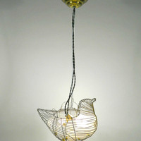 Wire Chicken Egg holder Hanging Lamp