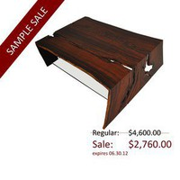 Rotsen Furniture / Sample Sale Raw Edge Cocobolo Coffee Table - Tables: Coffee Table - Modenus Catalog