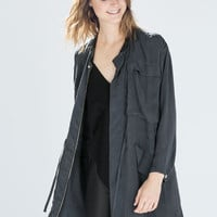 LONG FLOWY STUDIO PARKA