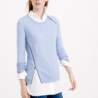 MERINO ASYMMETRICAL ZIP SWEATER