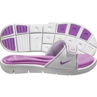 Nike Women's Comfort Slide - White/Purple | DICK'S Sporting Goods