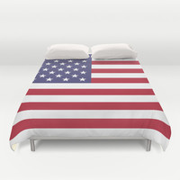 """The national flag of the USA - Authentic Scale """"G-spec"""" 10:19 and authentic colors. Duvet Cover by LonestarDesigns2020 - Flags Designs +"""