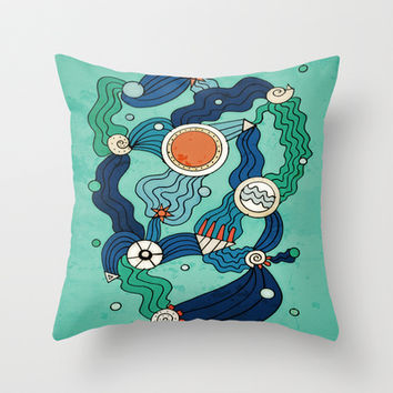 The Aquatic Environment Throw Pillow by DuckyB (Brandi)
