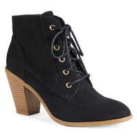Heeled Lace Up Bootie