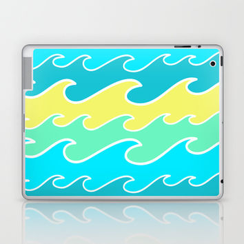 Ocean Waves Laptop & iPad Skin by tzaei | Society6